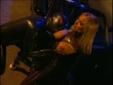 Latex Gimp Fucks a Hot Busty Blonde